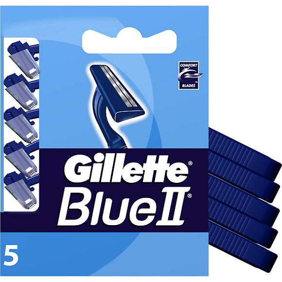 Gillette Blue 2 Disposable Razor Blister Pack 20/ 5 ct