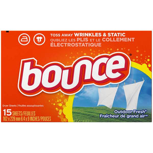 Bounce Fabric Sheets Outdoor Fresh 15/ 15 ct