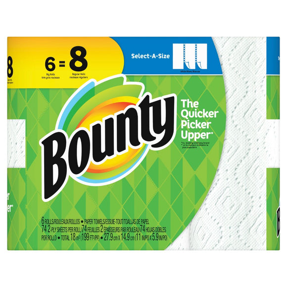 Bounty Select A Size White 6pk 1/ 84ct
