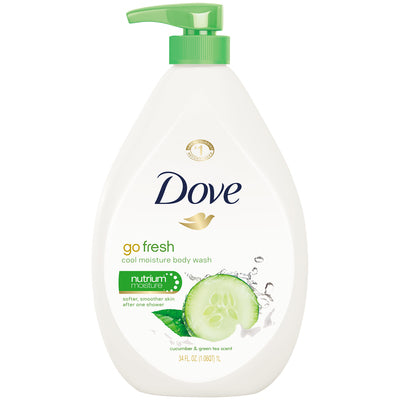 Dove Body Wash WPump Go Fresh Touch 12/ 33.8 oz
