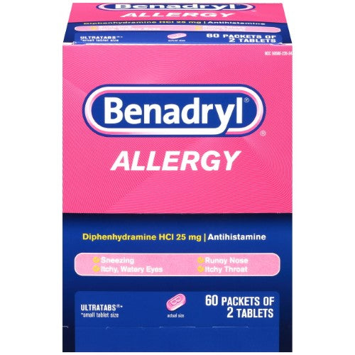 Benadryl Allergy Ultratab Tablets 60/ 2 ct