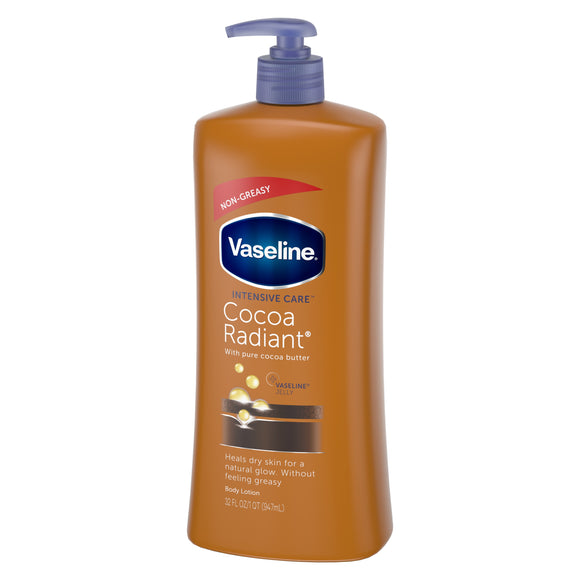 Vaseline Intensive Care Lotion Pump Cocoa Radiant 6/ 32 oz