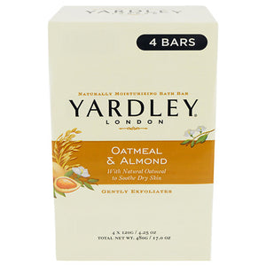 Yardley Soap Oatmeal & Almond 4pk 48/ 4.5 oz