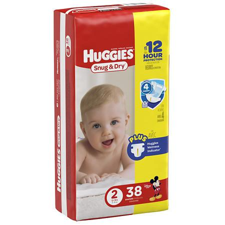 Huggies Jumbo Snug & Dry #2/ 4/ 38 ct