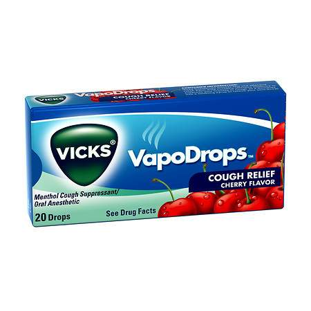 Vicks Vapodrops Cough Relief Cherry Flavor 20/ 20 ct