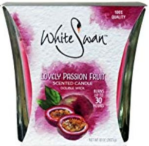 White Swan Scented Candle Lovely Passion Fruit 6/ 10oz