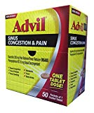 Advil Congestion Relief Tablets Dispensers 50/ 1 ct