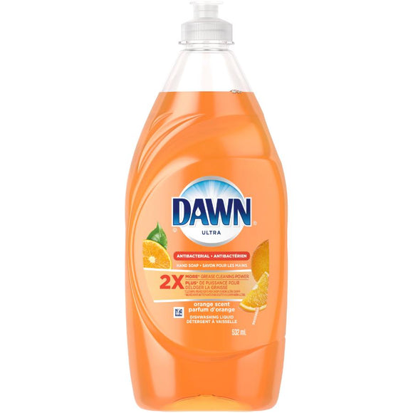 Dawn Ultra Dish Liquid Antibacterial Orange 10/ 18oz