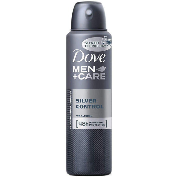 Dove Deodorant Spray For Men Silver Control 6/ 5 oz