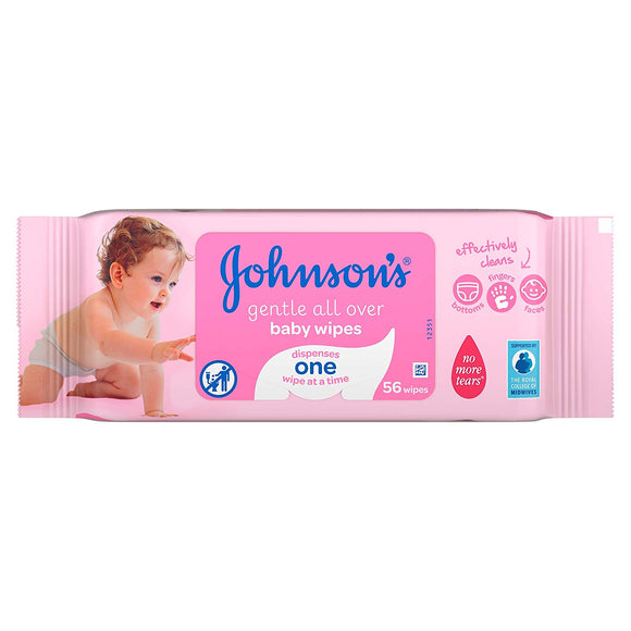 Johnson's Baby Wipes Gentle All Over 3pk 3/ 56 ct