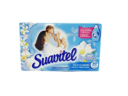 Suavitel Dryer Sheets Field Flower 15/ 20 ct