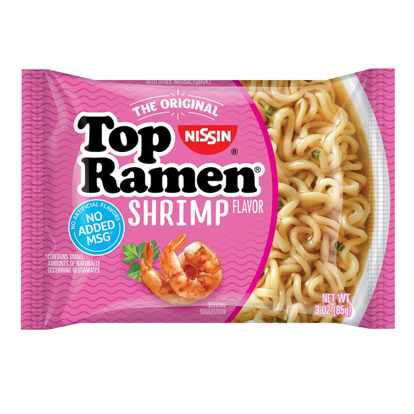Nissin Top Ramen Shrimp 48/ 3 oz