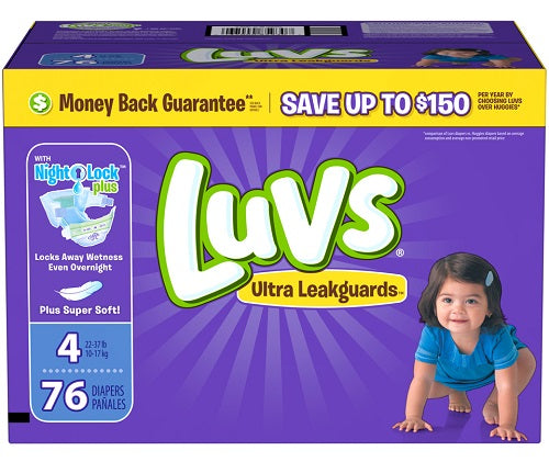 Luvs Family Pack Size 4/ 1/ 76 ct