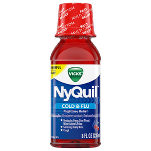 Vicks Nyquil Cold Medicine Cherry 12/ 8 oz
