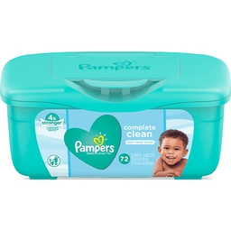 Pampers Baby Wipes Complete Clean Tub 8/ 72 ct