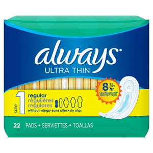 Always Thin Ultra Regular No Wings 12/ 22 ct