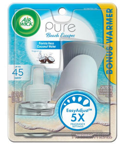 Air Wick Scented Oil Starter Kit 1 Oil 1 Pure Florida Keys Coconut Water 4/1 ct