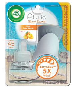 Air Wick Scented Oil Starter Kit 1 Oil 1 Pure Maui Sweet Mango 4/1 ct