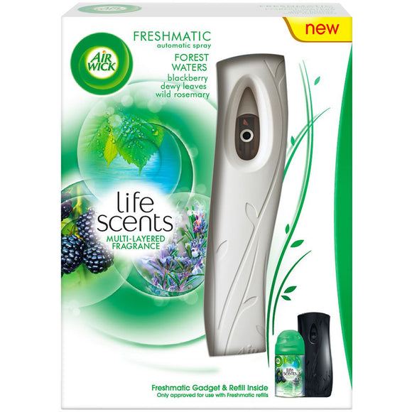 Air Wick Freshmatic Machine + Refill Life Scents Forest Waters 4/ 1 ct