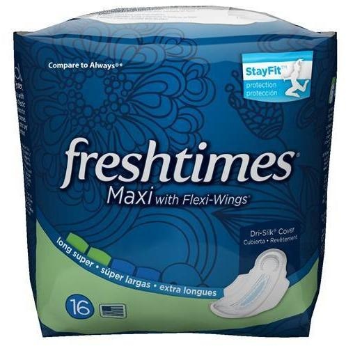 Fresh Times Maxi with Flexi-Wings Long Super 12/ 16 ct