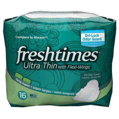 Fresh Times Ultrathin with Flexi-Wings Long Super 12/ 16 ct