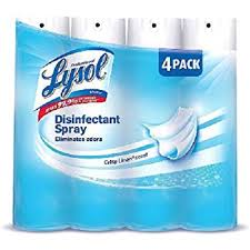 Lysol Spray Disinfectant Crisp Linen 4pk 12/ 19oz
