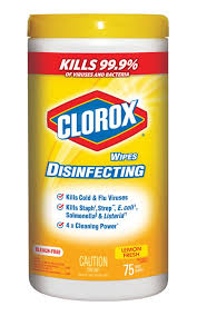Clorox Disinfecting Wipes Lemon 6/ 75ct