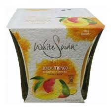 White Swan Scented Candle Juicy Mango  6/ 10oz