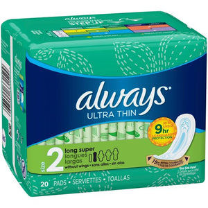 Always Thin Ultra Long Super No Wings 12/ 20 ct