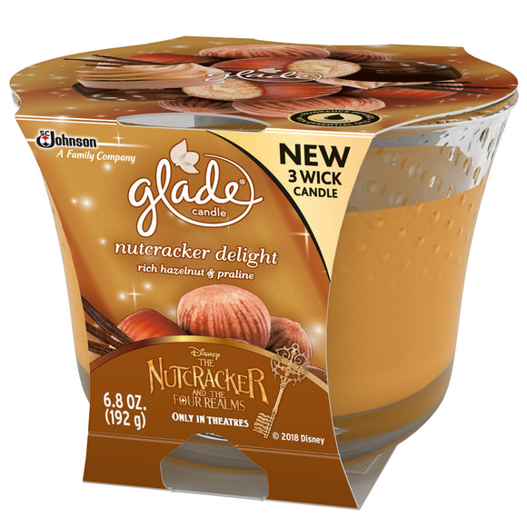 Glade Candle Rich Hazelnut & Praline 3/ 6.8 oz