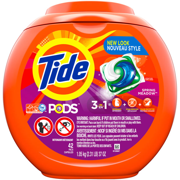 Tide Pods Spring Meadow 3 in 1/ 4/ 42 ct