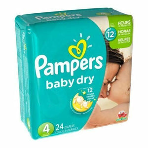 Pampers Diapers Baby Dry size #4/ 4/ 24 ct