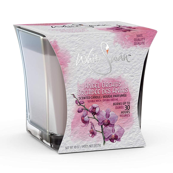 White Swan Scented Candle Angel Orchids 6/ 10 oz