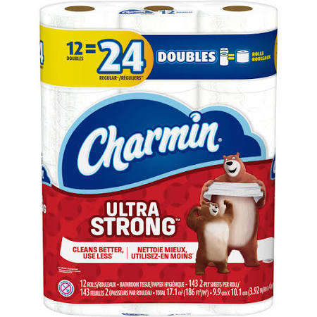 Charmin Ultra Strong Double Roll 12pk/ 4/ 143