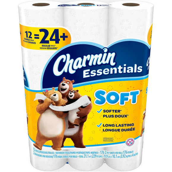 Charmin Ultra Soft Double Rolls 4pk/ 12/ 142 ct