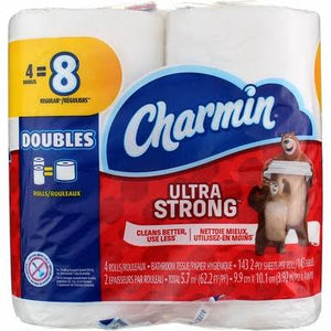 Charmin Ultra Strong Double Roll 4pk/ 12/ 143 ct