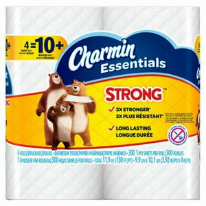 Charmin Essentials Strong Giant Roll 12pk 4/ 300 ct