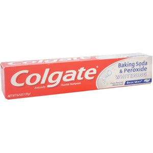 Colgate Toothpaste Baking Soda & Peroxide Whitening Oxy Bubbles Brisk Mint Paste Travel Size 24/ 2.5 oz