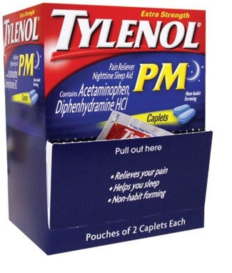 Tylenol PM Caplets Dispenser 25/ 2 ct