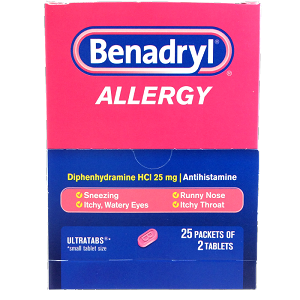 Benadryl Allergy Tablets 25/ 2 ct