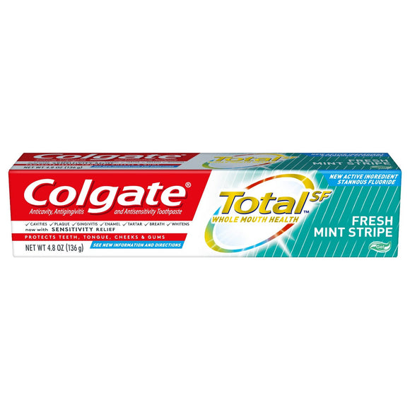 Colgate Total Mint Stripe Gel 4pk 8/ 7.8 oz