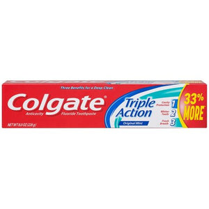 Colgate Toothpaste Triple Action Original Mint Travel Size 24/ 2.5 oz
