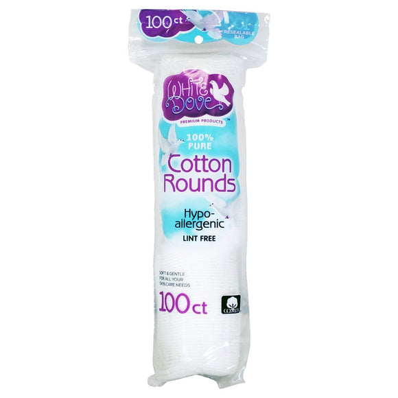 White Dove Cotton Pads 48/ 100 ct