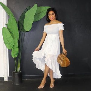White Hi-lo Dress