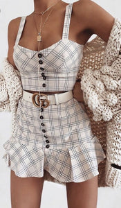 Ruffled Plaid skirt - Everything Girls Like Boutique