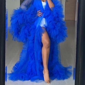 Dark Blue Tulle Robe