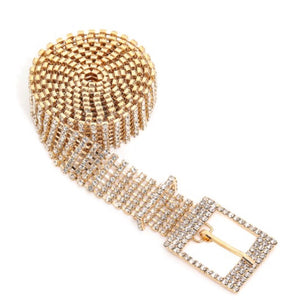 Sensi Rhinestone Studded Chain Belt - Everything Girls Like Boutique