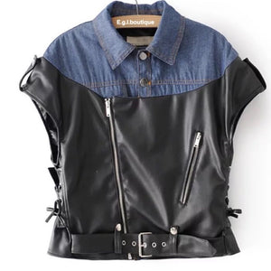 Facts Leather Top