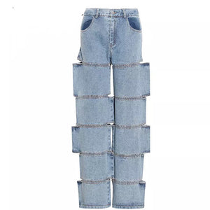 Separated Denim Pants