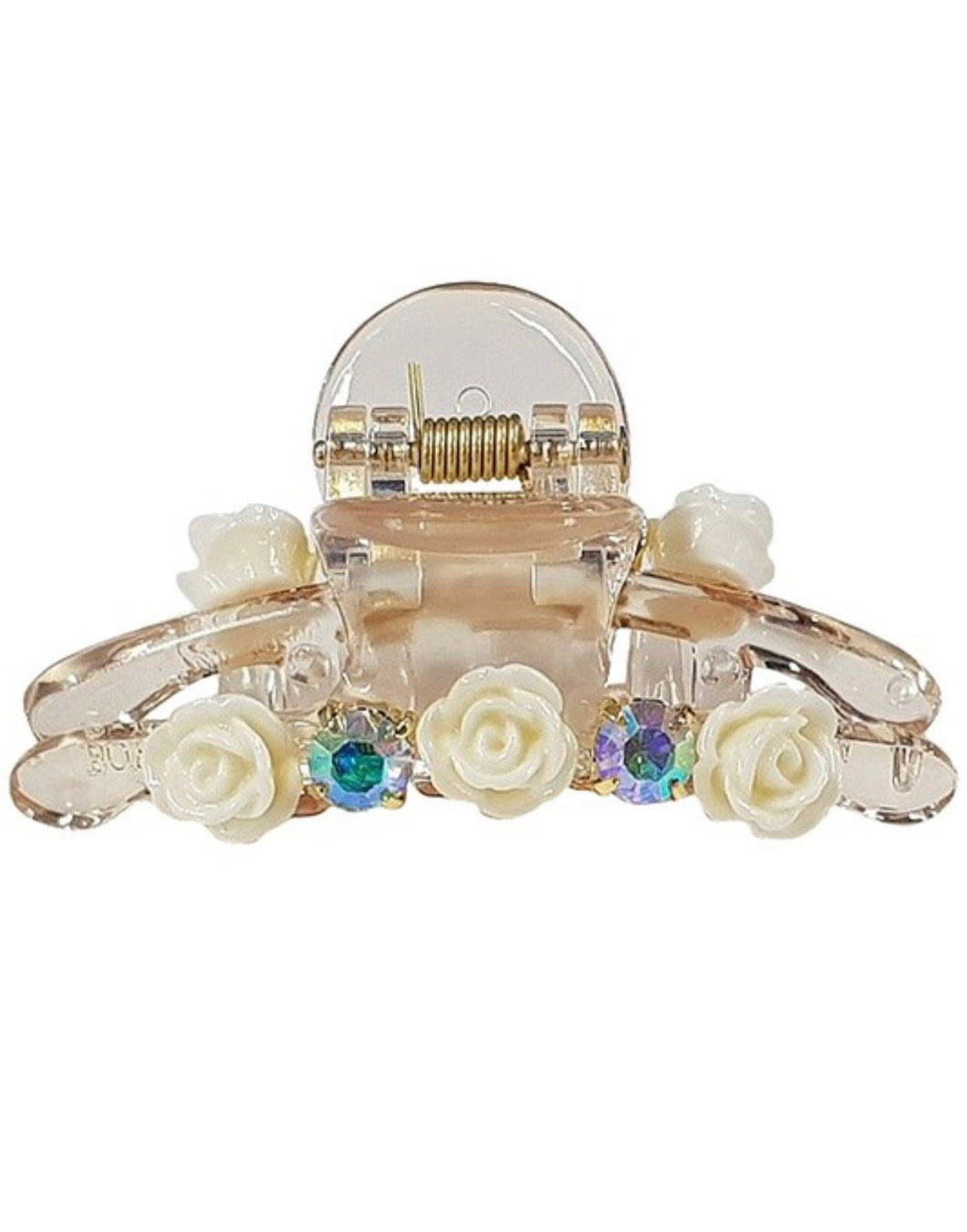Hair Clip With Rosette Details - Everything Girls Like Boutique